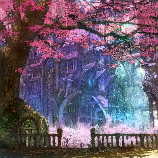 魔術学校外観(花は万年咲いてます)