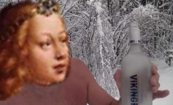 極寒の地で飲むウォッカは最高さブラザー!