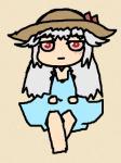 呪われパパさんからの頂き物、ジト目が可愛らしいSD絵です…でも小さく出来ない、どうやればいいんだろう…
