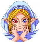 目の色がドンドン変わって魔法を発動します!